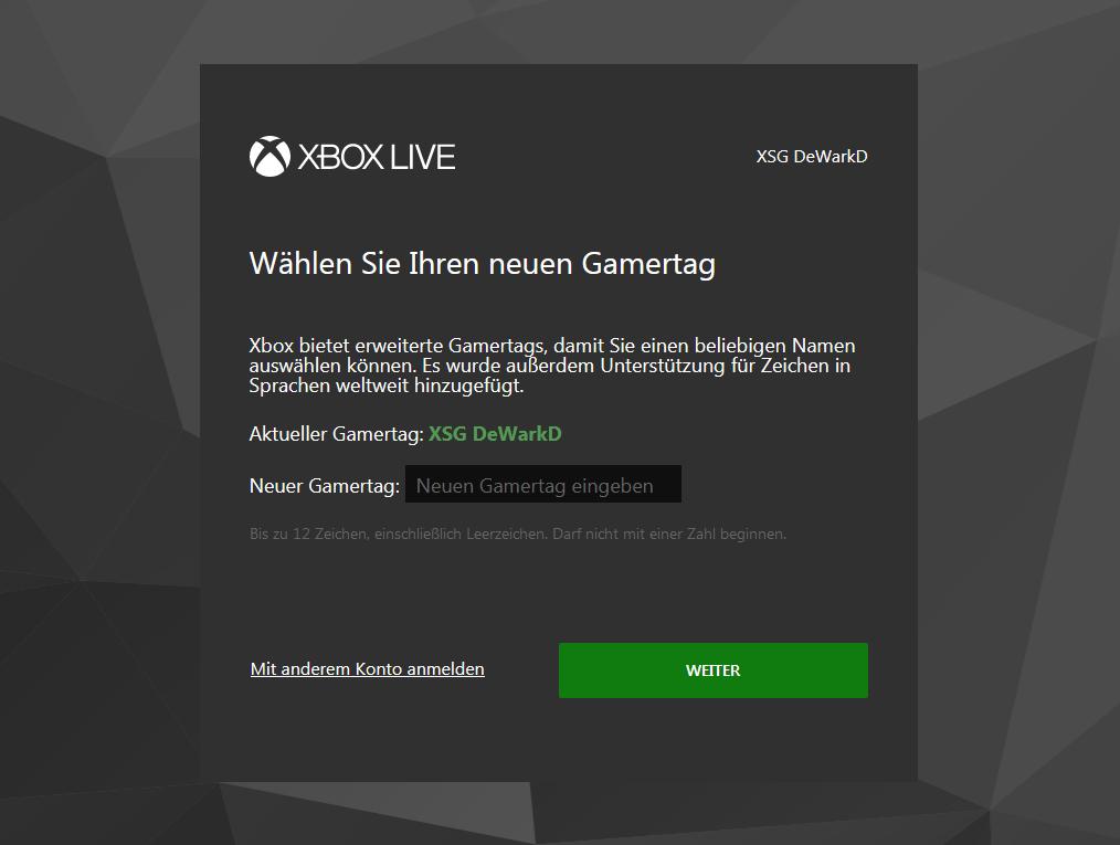 Microsoft Gamertag ändern